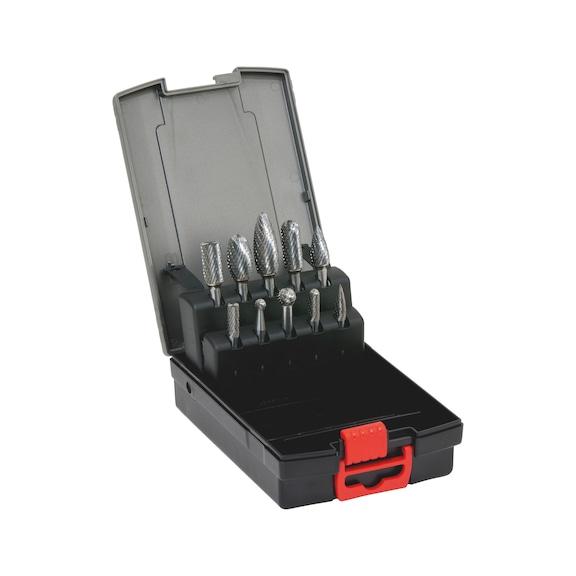Conjunto de Rebolo de Metal Dentes MX - CONJUNTO DE 10 FRESAS 6MM