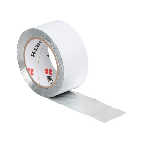 Fita adesiva de alumínio puro, folha de PE - FITA ALUMINIO 50MMX50M 65MICRONS