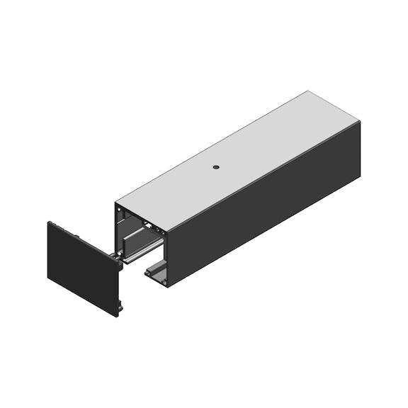 Направляющая Vidro 60/66 - AY-GUIDER-SLIDDR-VIDRO150-60/66-DM-2100