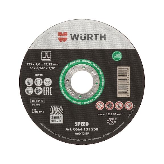 Trennscheibe Speed plus für Edelstahl - TSHB-SP-GRUEN-A2-GD-ST1,0-BO22,2-D125MM