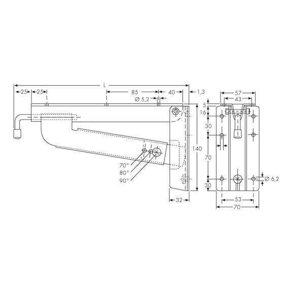 Reggimensola per tavoli pieghevoli portata 150kg w rth for Reggimensola pieghevole