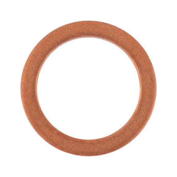 Уплотнительное кольцо, медное, дюймовое, форма A - КОЛЬЦО-УПЛОТН.-DIN7603-CU-13X18X2
