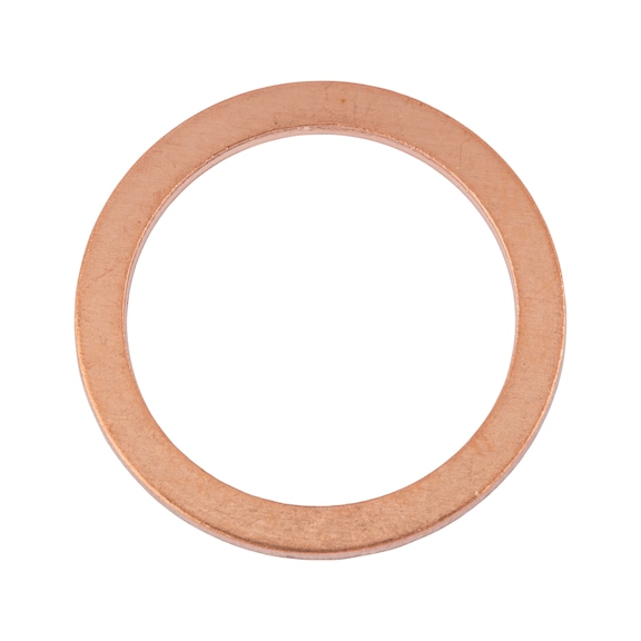 Sealing ring, copper, shape A - RG-SEAL-DIN7603-CU-A-8X12X1