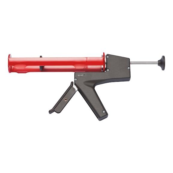 Håndfugepistol, H14  Manuel fugepistol i høj kvalitet til 310 ml patroner med fremragende kraftoverførsel og hurtigudløser. Fremstillet af stål