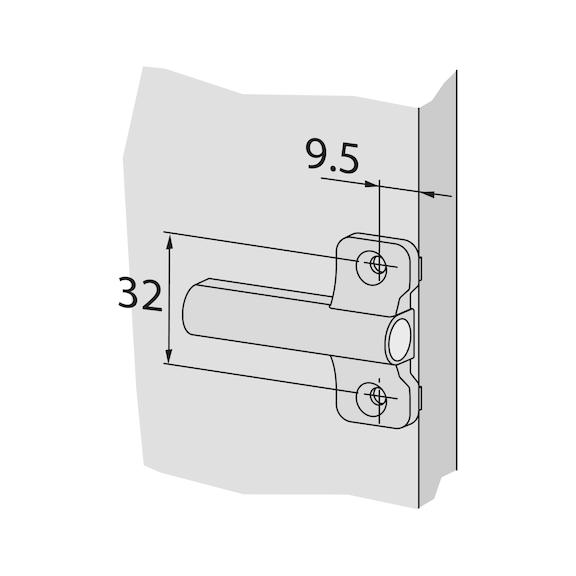 Placa adaptadora Soft-close/Tipmatic - ADAPTADOR BATENTE