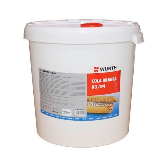 Cola branca para madeira D3/D4  - COLA BRANCA D3/D4 30KG