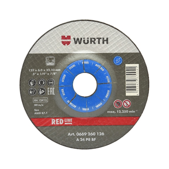 Grinding wheel for steel - TH6,0 BR16,0 D100MM