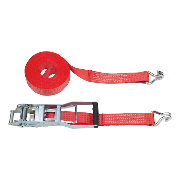 Reverse action ratchet straps heavy duty trolley jack