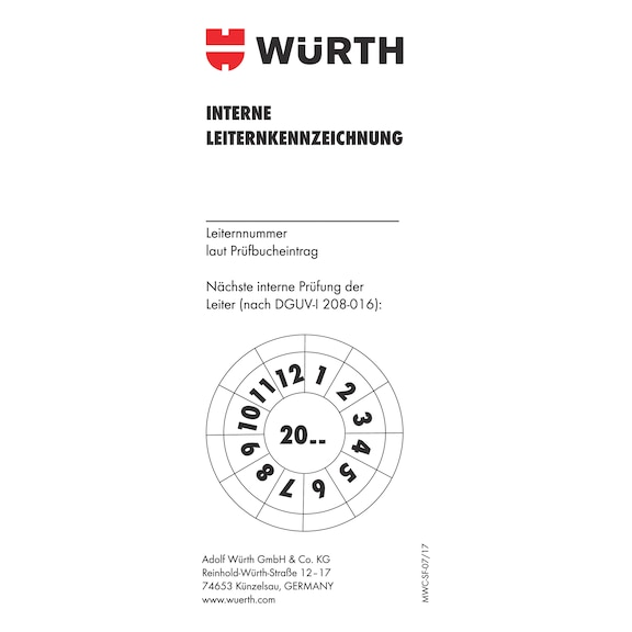 Buy Inspection Sticker Online Wurth