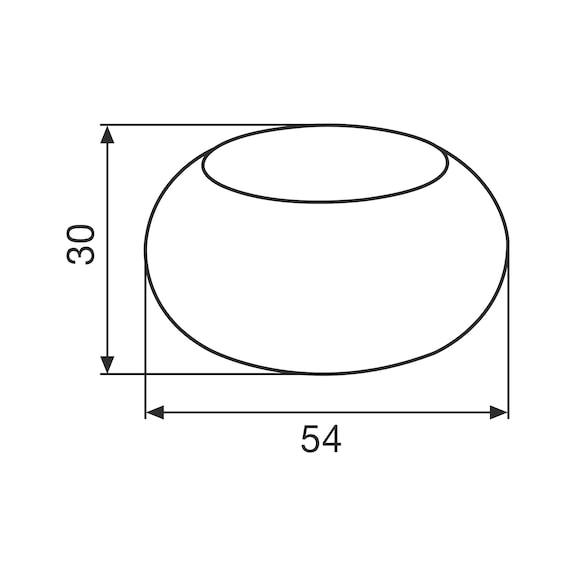 Türstopper Typ R - TRSTOPR-R-EDELSTAHL-OPTIK-D54MM