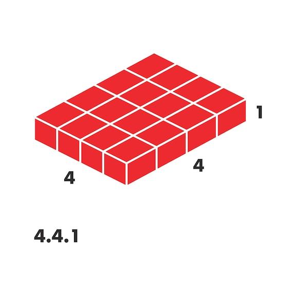 Base de sistema, plástico 4.4.1 - INTERIOR 4.4.1. - 5 DIVISÓRIAS