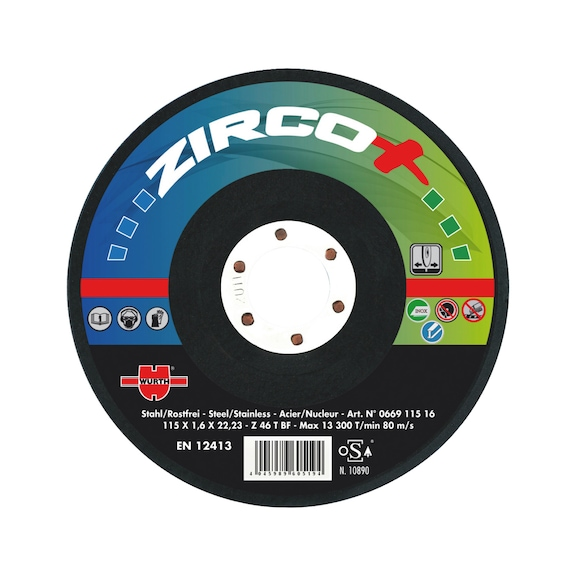 Disque à meuler Zirco plus - MEULE EBARBER ZIRCO+ 125 X 6.4 X22.2 DEP