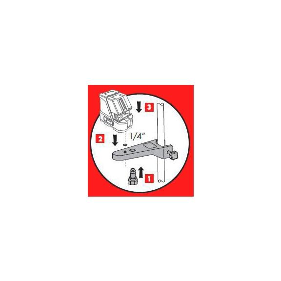 Suporte para laser de 145-290cm - SUPORTE NIVEL LASER