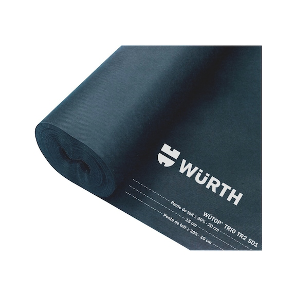Membrane sous-toiture et film de protection pour toit WÜTOP® Trio TR2  - 1