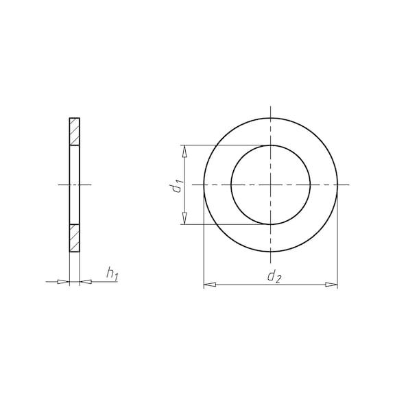 Rondella piatta per bulloni e dadi esagonali - 2
