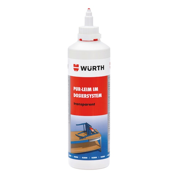 Transparent PUR glue