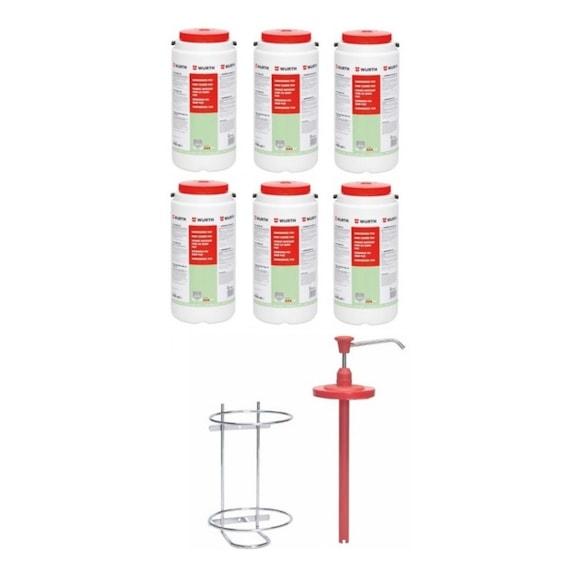 Набор жидкого мыла (24 кг.) + диспенсер - Н-Р-ЖИДКОГО-МЫЛА-С-ДИСПЕНСЕРОМ-24Л