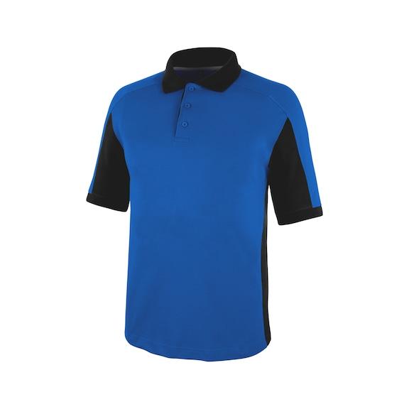 Cetus Poloshirt Royalblau/Schwarz CHF