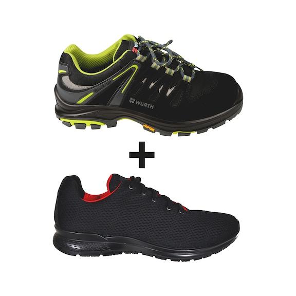 Offerta set Scarpe antinfortunistiche basse Flex Running S3 + sneaker GRATIS