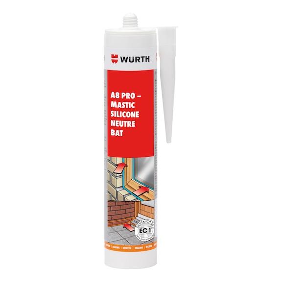 Mastic silicone neutre A8 PRO