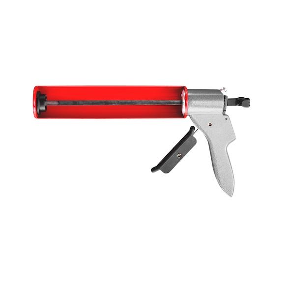 Håndfugepistol, H40  Manuel fugepistol i halvåbent design til 310 ml patroner.