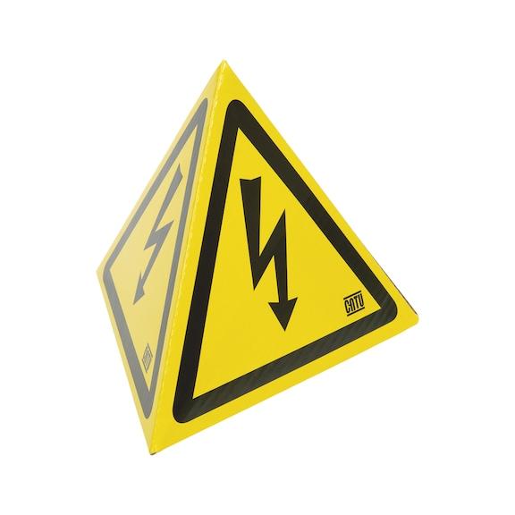 Tetraedrisches Warnzeichen Gefährliche elektrische Spannung