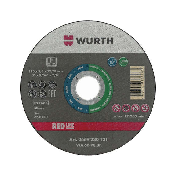 Cutting disc for stainless steel - GREEN BR22,23 D125MM