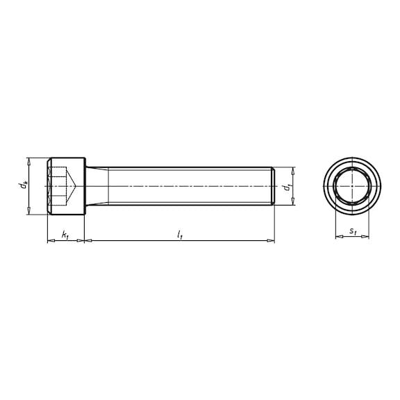 Zylinderschraube DIN 912 Innensechskant 12.9 Stahl blank M1,2 M3,5