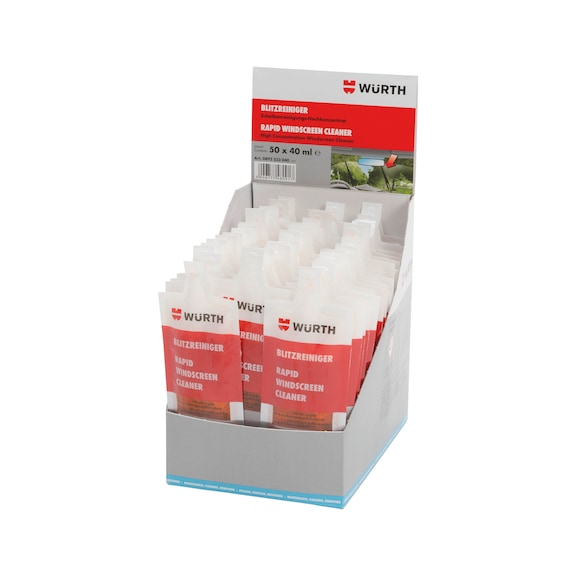 Windscreen cleaner Flash cleaner in display carton - 0