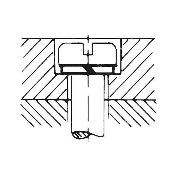DIN7980 M 5 verzinkt Federring für Zylinderschrauben