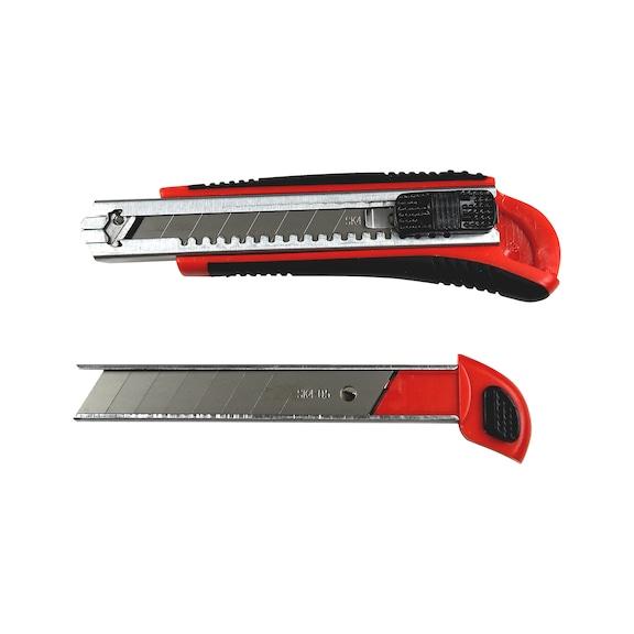 Rezací nôž s2-zložkovou rukoväťou, posúvač, zaistenie čepele  - 2