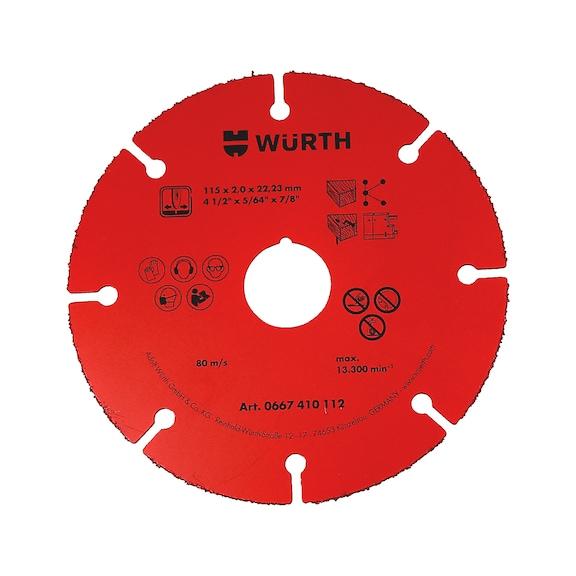 Discos de corte com ponta em carboneto - DISCO CORTE RED MADEIRA D.115MM