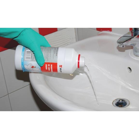 Desentupidor de canos líquido NaOH - DESENTUPIDOR DE CANOS LIQUIDO 1L
