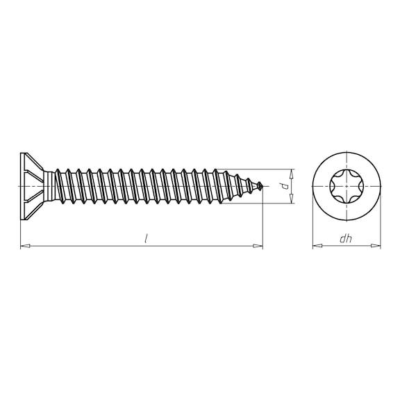 Abstandsmontageschraube Amo<SUP>® </SUP>III Typ 1 - 2