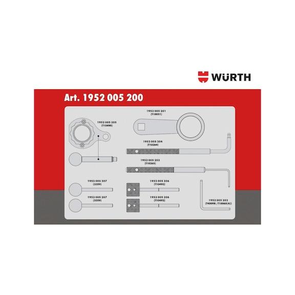 Conj ferramen sincroniz VW Group diesel, 10 peças - KIT DISTRIBUIÇÃO VW 1.6-2.0D DESDE 2012
