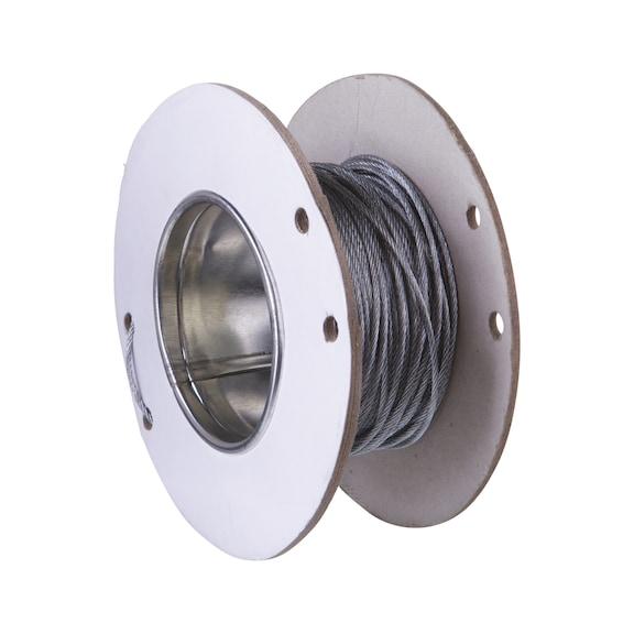 Bobine pour système de suspension rapide par câble acier W-FIX - BOBINE DE CÂBLE 1.5MM LGR 150M