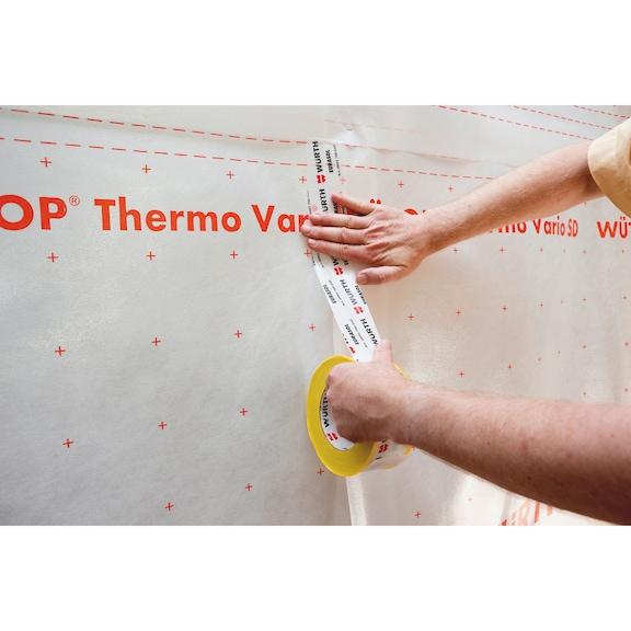 Bande adhésive pour film de protection pour toit EURASOL<SUP>®</SUP> - TOILE-AUTOCOLLANTE-EURASOL-60MMX25M