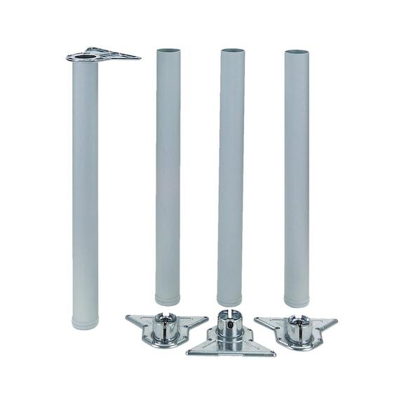 Gambe Per Tavoli In Alluminio.Kit Gambe Per Tavolo In Alluminio Wurth
