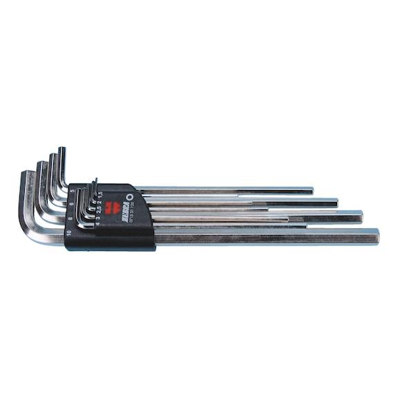 Jeu de clés mâles 6pans - SET-CLE COUDEES-LONGUES-(1,5-10MM)-9PCS