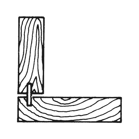 Bucha de madeira estriada - 0