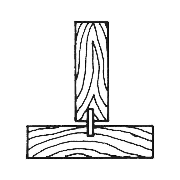 Bucha de madeira estriada - 1