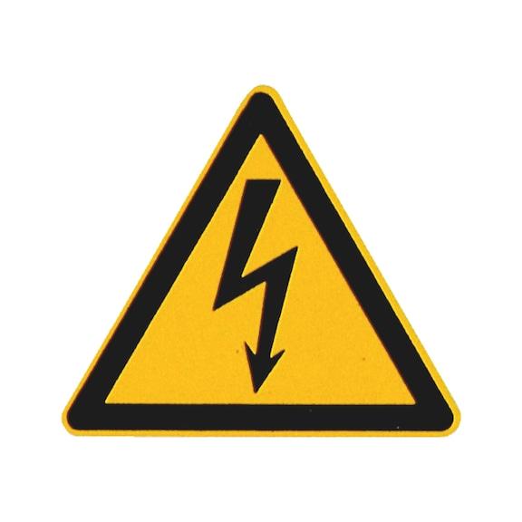 Sicherheits- und Warnschild - Gefährliche elektrische Spannung