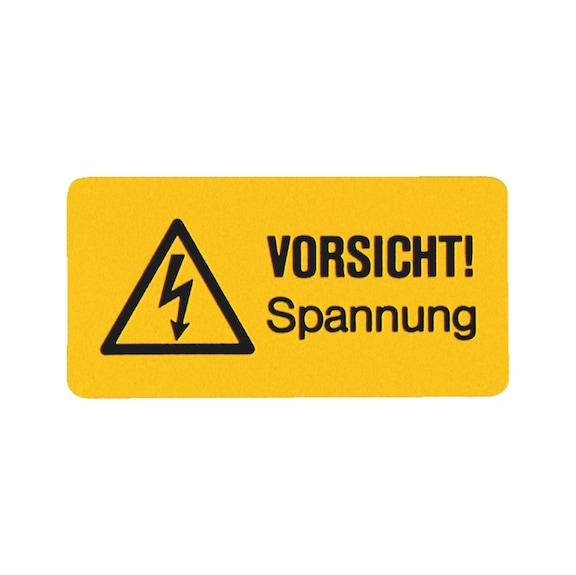 Sicherheits- und Warnschild - VORSICHT! Spannung