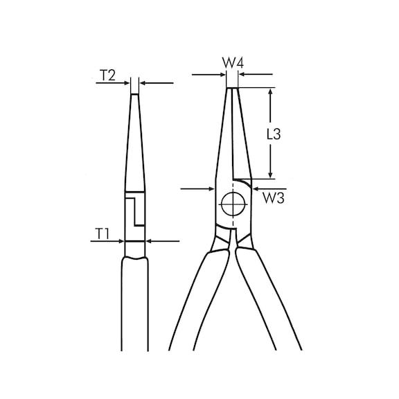 Alicate de pontas semi-redondas - ALICATE PONTAS 200MM