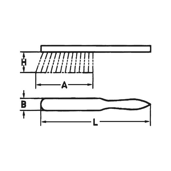 Industriehandfeger Arenga-Elaston - HNDFEG-ARENGA/ELASTON-L280MM