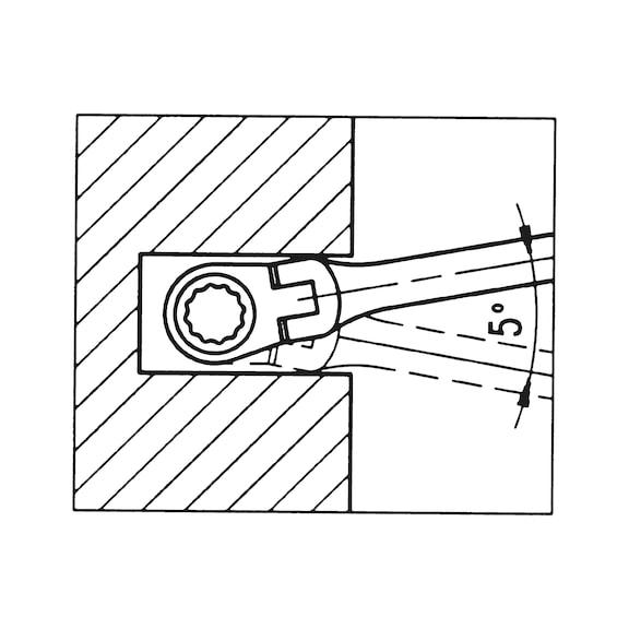 Ratschen-Ringmaulschlüssel-Satz - RATRGMAULSHSL-SORT-FLEXIBEL-6TLG