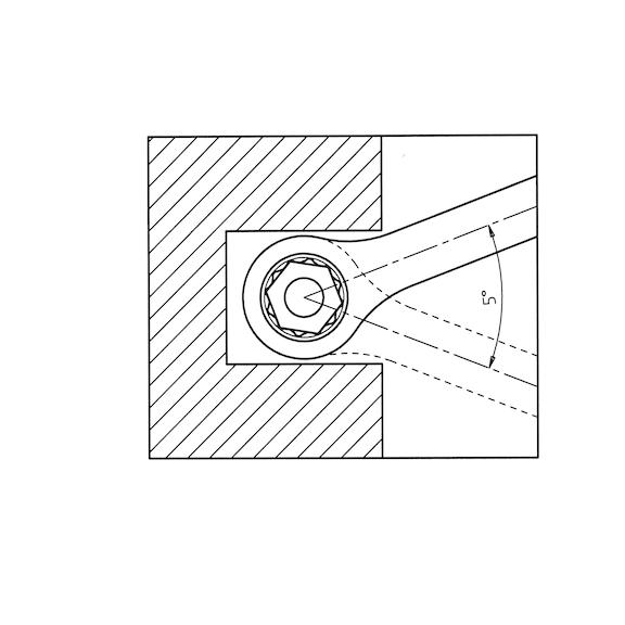 Conjunto de chaves combinadas com roquete, duplas - CONJ CHAVES BOCA LUNETA C ROQ. - 6 PECAS