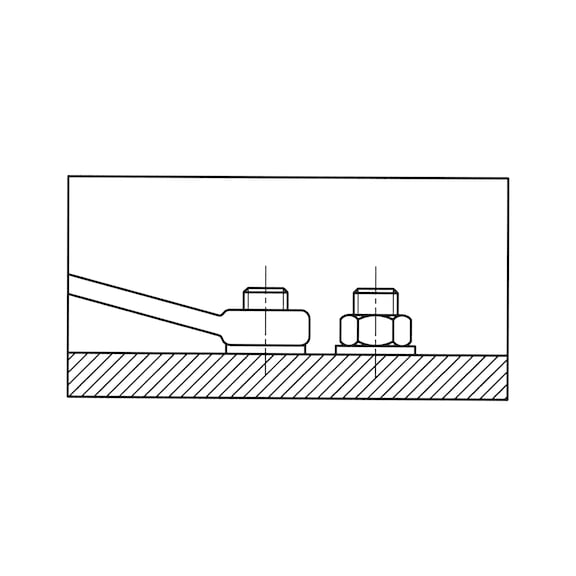 Chave de boca e luneta, modelo curto - CHAVE BOCA LUNETA 6MM