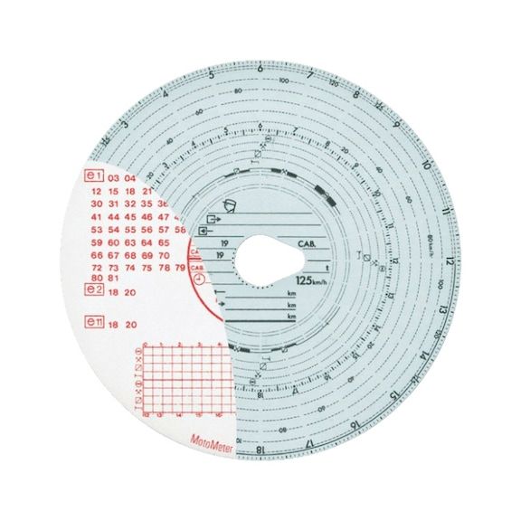 Disco para tacógrafos CE - DISCOS P/TACOGRAFO 125KM COMBINADO