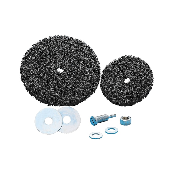 Disco abrasivo de nylon para adaptador de fixação - DISCO DE NYLON PLUS PRETO D.150MM